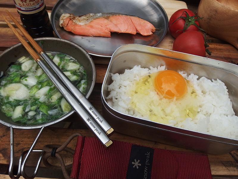 ソロキャンプの朝食は簡単に