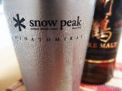 自宅でもソロキャンプ気分snow peak雪峰祭直営店舗限定- ECOカップで晩酌