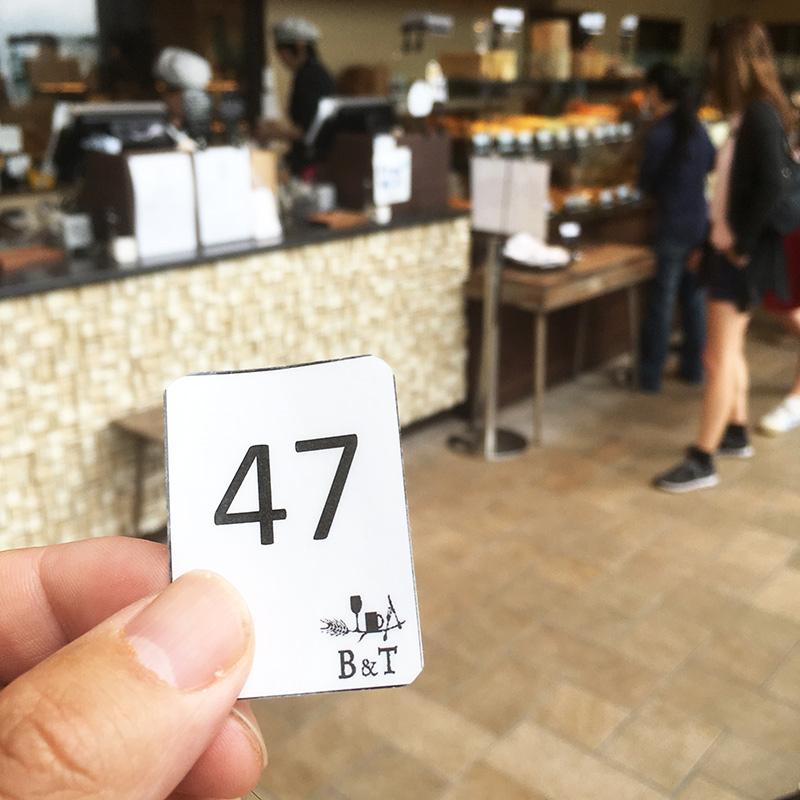 箱根・芦ノ湖ベーカリーアンドテーブル箱根 注文番号の表示