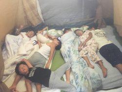 リビングキャンプでコールマンタフドーム
