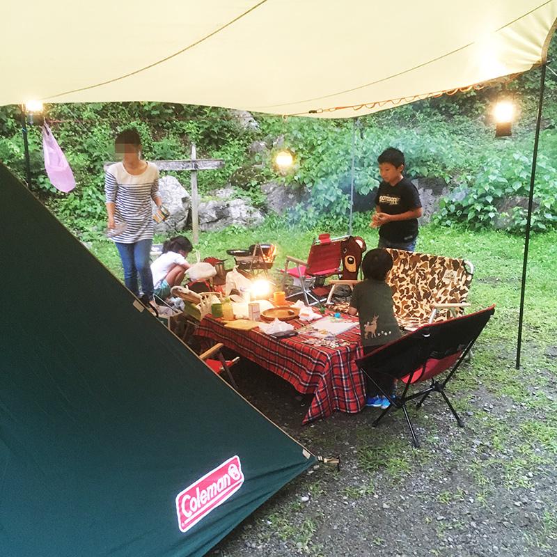 ファミリーキャンプの過ごし方