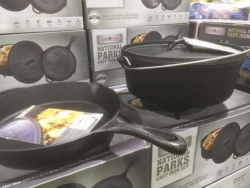 コストコキャンプ用品 ダッチオーブンとスキレットセット