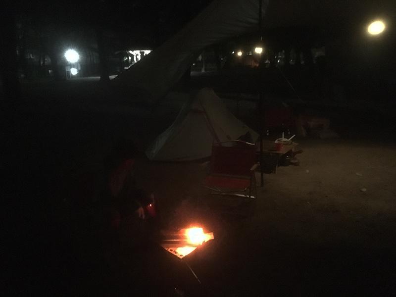 娘と2人キャンプ キャンプの夜の過ごし方