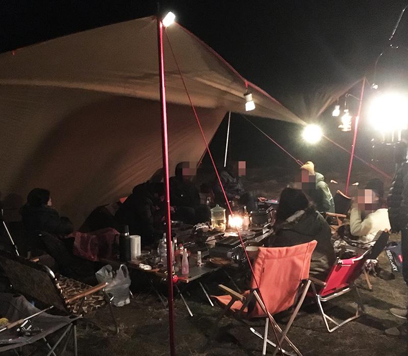 みんなでキャンプ