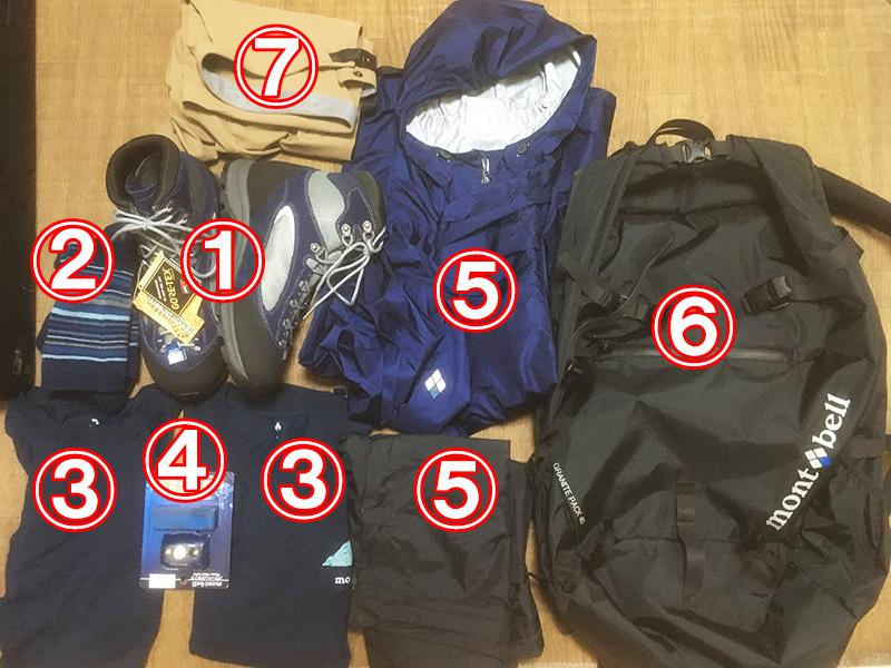 初めての登山 富士登山で準備するもの 買ったもの