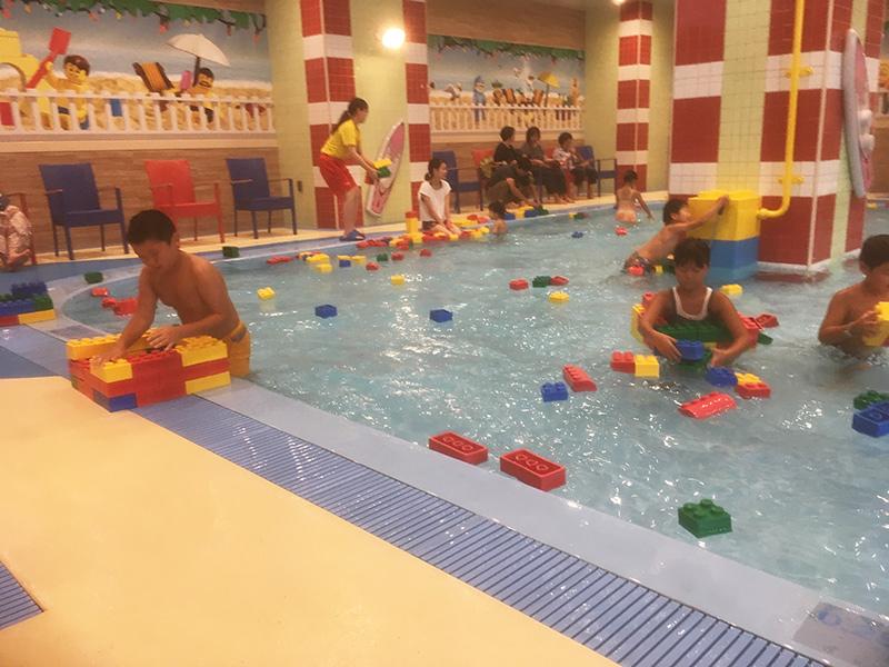 レゴランドホテル内のプール