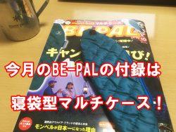 BE-PAL10月号の付録は寝袋型マルチケース