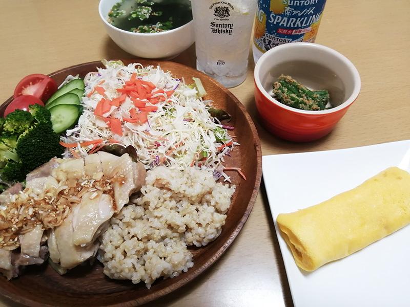 1日1食 酒 休肝日-玄米食
