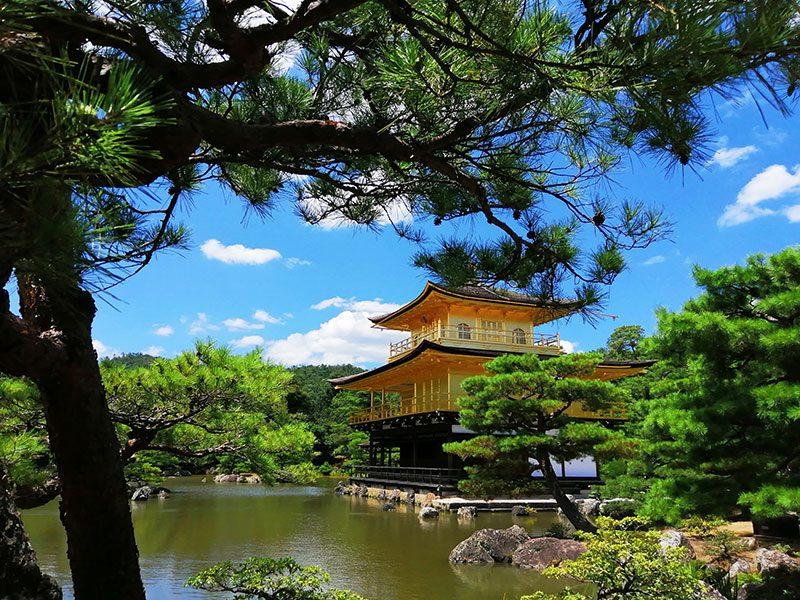 京都観光 自転車観光 金閣寺