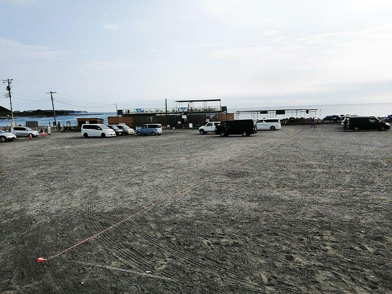 和田長浜海岸 無料駐車場