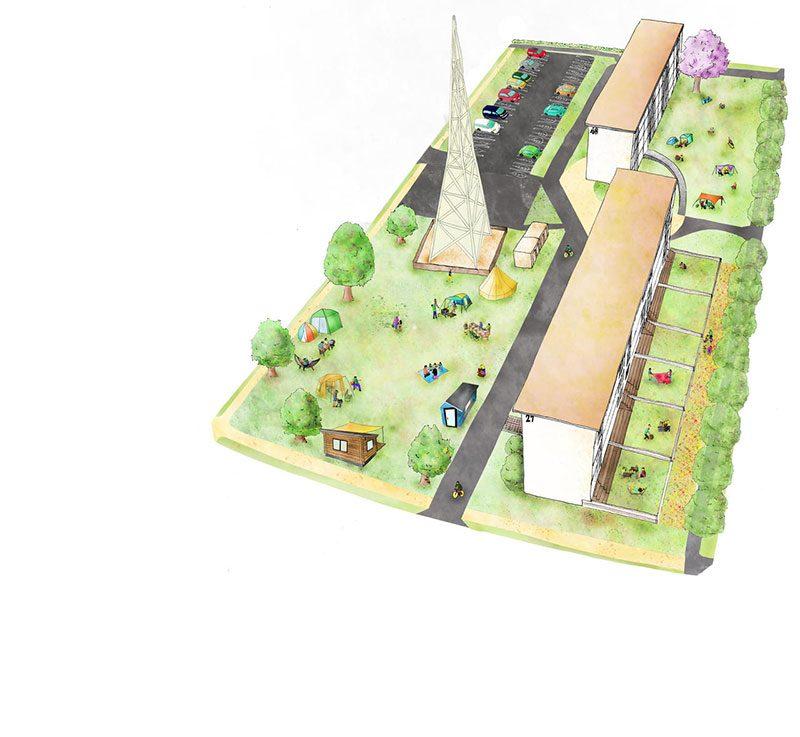 いろどりの杜 庭でキャンプができる 都心の家 住宅