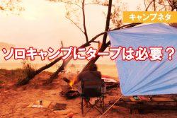 ソロキャンプにタープは必要?