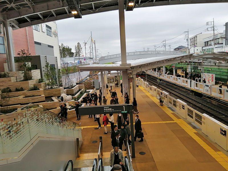 南町田グランパーク駅 平日 混雑状況