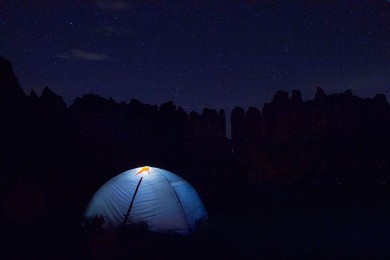 ソロキャンプの夜 へんな体験をしたことある?