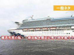 横浜港 豪華客船 停泊 横浜の人はどう思っているのか?