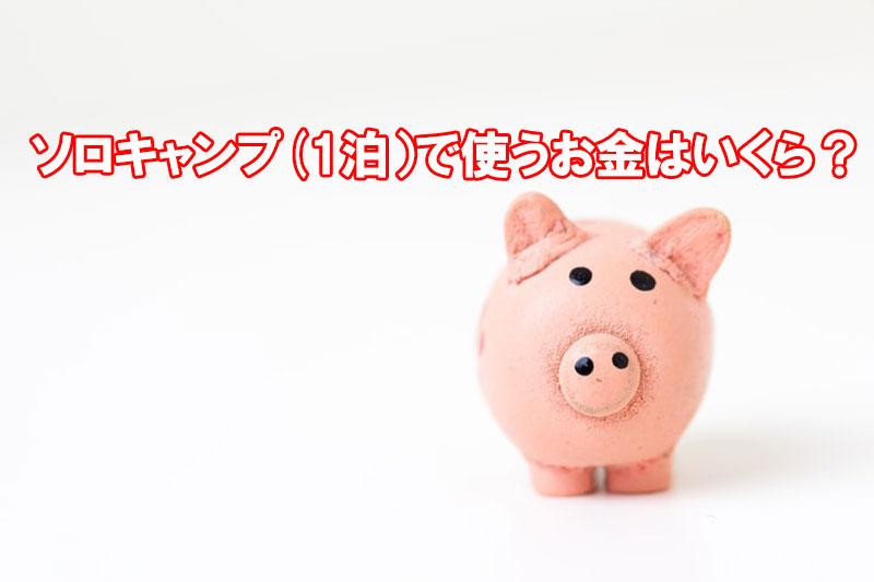 ソロキャンプ 1回に使うお金は何円?