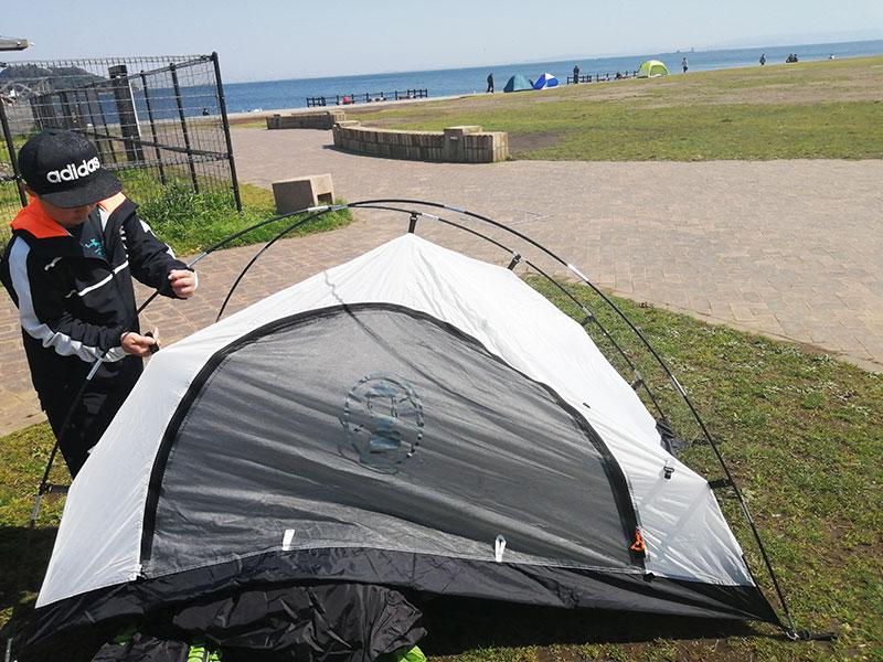 コールマンツーリングドムST 設営が簡単なテントは?