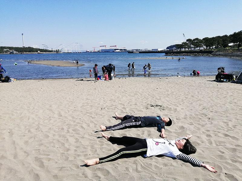 海の公園で潮干狩り あさりは採れる?