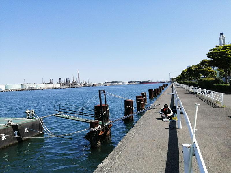 根岸港 魚が釣れる場所はどの辺り?