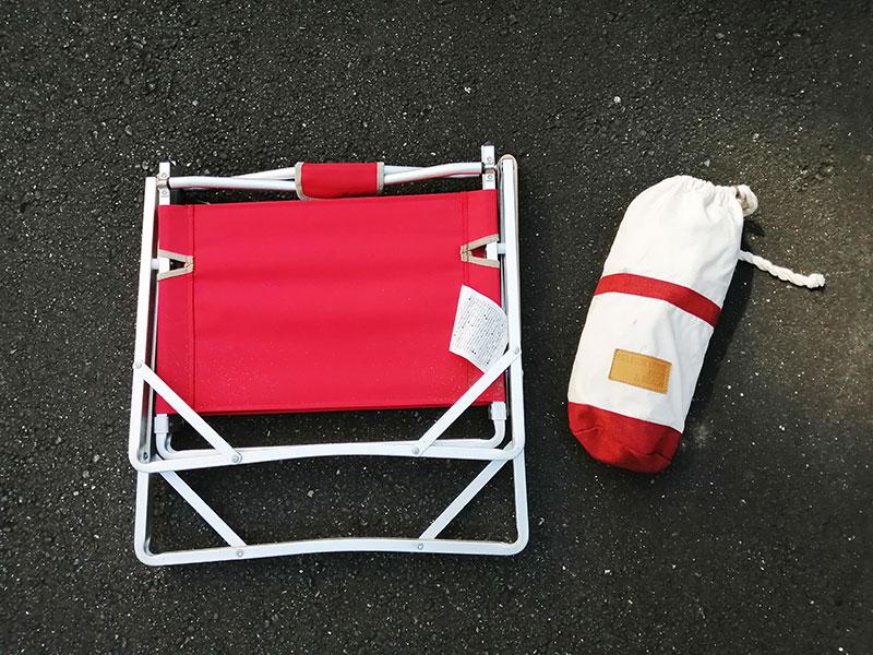 アウトドア用 椅子 ローチェアはかさばるの?