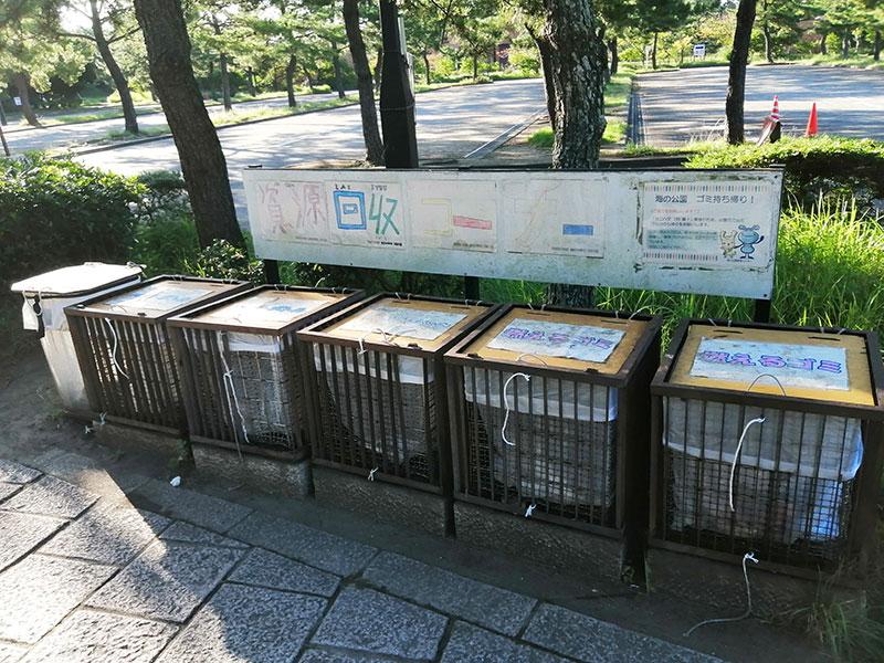 野島公園 アジ釣り ゴミ箱は?