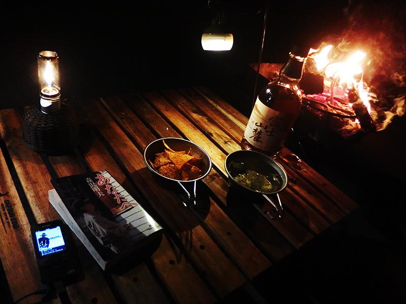 ソロキャンプで使っているテーブルは何?
