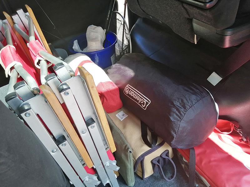 キャンプ 車に積み込んだらどうなる?日産 セレナ