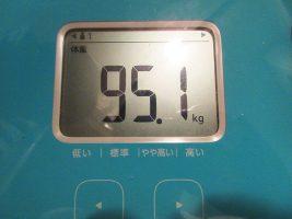 1日1食ダイエット 2日目の体重