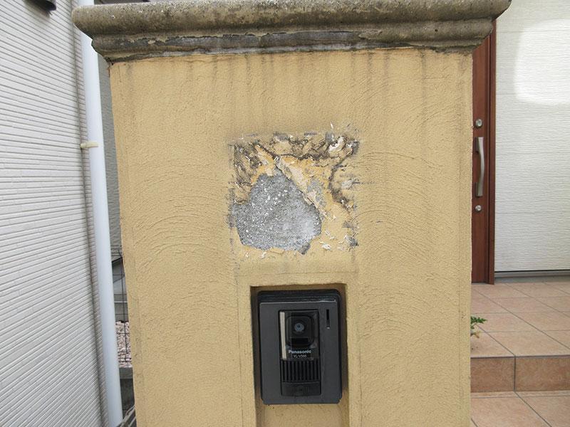コンクリートの壁に空いた穴を埋めるやり方