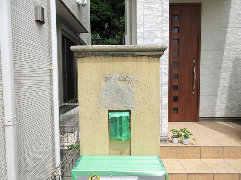 コンクリートでできた門柱 穴の埋め方