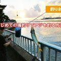 はじめての海釣りでも アジが釣れる方法は?