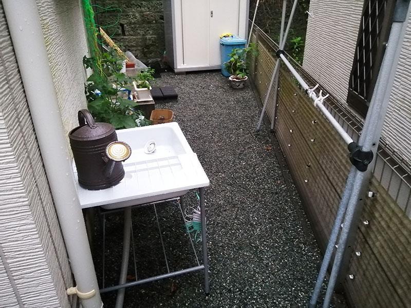 ガーデンシンクDIY-屋外 設置の方法